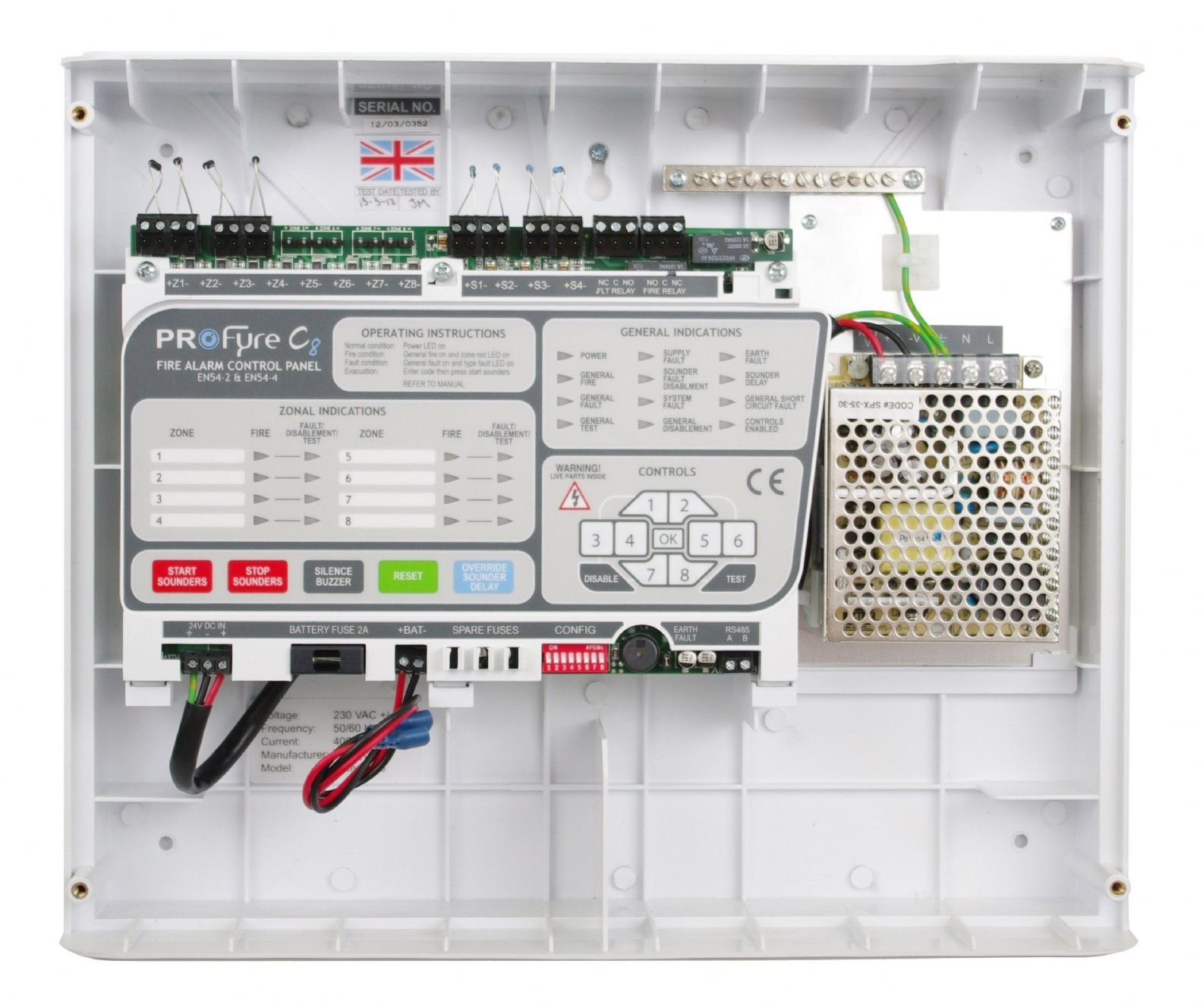 hight resolution of  in8 zeta infinity 8 zone conventional fire alarm panel